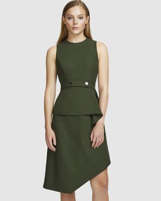 Aris Layered Snap Belt Dress