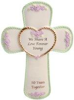 Precious Moments 50th Anniversary Cross Plaque