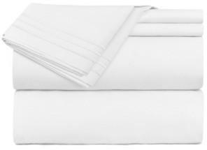 Clara Clark Premier 1800 Series 3 Piece Deep Pocket Bed Sheet Set, Twin Xl Bedding