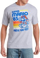 True Nation Super Mario Bros. Movin' and Groovin' Big & Tall Short Sleeve Graphic T-Shirt (1XL, Grey Heather)
