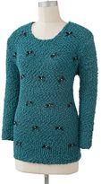 Lauren Conrad bow lurex sweater