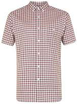 Topman Red Gingham Short Sleeve Casual Shirt