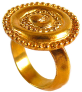 Chen Fuchs Jewelry Ancient Gold Coin Statement Cocktail Ring