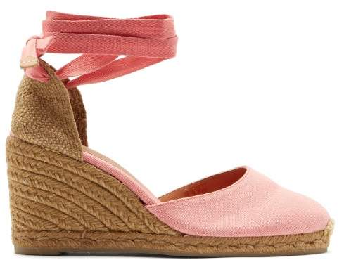 2489b3e4370 Carina 80 Canvas & Jute Espadrille Wedges - Womens - Pink