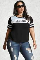 Forever 21 Plus Size Legend Colorblock Tee