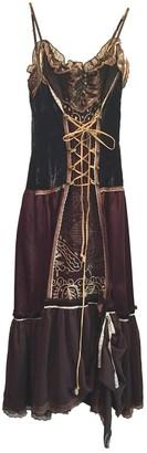 Lm Lulu Brown Velvet Dress for Women