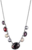 Alexis Bittar Georgian Multi Stone Single Strand Necklace