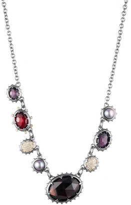 Alexis Bittar Georgian Multi Stone Single Strand Necklace