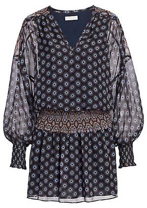 Ramy Brook Medallion Print Silk Mini Dress