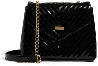 Harrods Patent Chevron Grab Bag