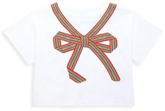 Burberry Little Girl's & Girl's Leona Bow T-Shirt