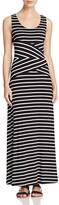 Calvin Klein Variegated Stripe Maxi Dress