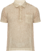 120% Lino 120 LINO Short-sleeved linen shirt