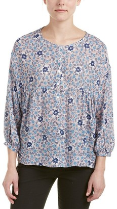 Max Studio Women's Printed Longsleeve Floral Blouse with Buttons