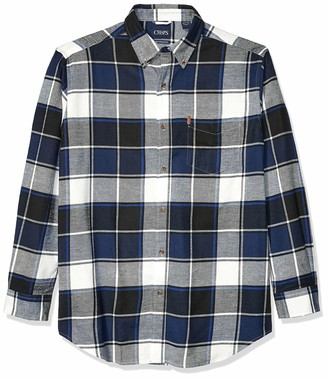 Chaps Men's Big and Tall Long Sleeve Performance Flannel Shirt