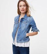 LOFT Denim Jacket in Staple Mid Indigo Wash