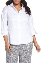 Foxcroft Plus Size Women's No-Iron Cotton Shirt
