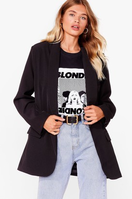 Nasty Gal Womens Strong Enough Oversized Blazer - Black - 4