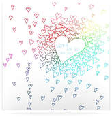 KESS InHouse Rainbow Hearts by Monika Strigel Graphic Art Plaque