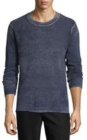 ATM Anthony Thomas Melillo Faded Wool-Cashmere Crewneck Sweater