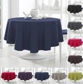 Today 256302 Tablecloth Round Polyester 180 x 180 cm, polyester, Ciel d'orage/Bleu Marine, 180x180 cm