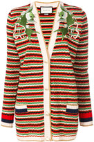 Gucci Embroidered striped cardigan
