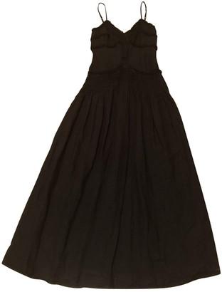 120% Lino Black Linen Dress for Women