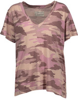 Current/Elliott The V Neck Printed Cotton-Jersey T-Shirt