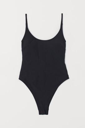 H&M Swimsuit Extra High Leg - Black