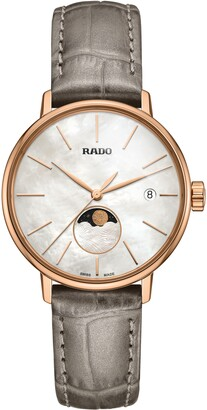 Rado Coupole Classic Leather Strap Watch, 34mm