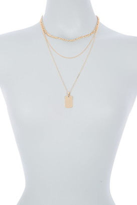 Area Stars Link ID Layered Necklace Set