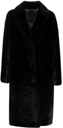 Philipp Plein Graffiti-Print Faux-Fur Coat