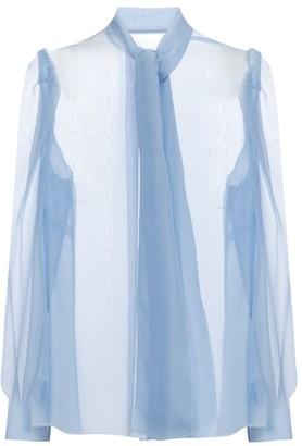 Dolce & Gabbana Tie-neck silk chiffon blouse