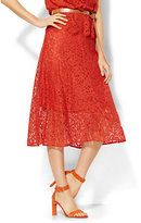 New York & Co. 7th Avenue Design Studio Midi Lace Flare Skirt