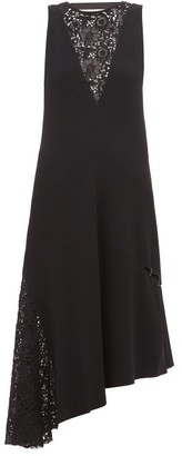 Tibi Guipure-lace Crepe Dress - Black