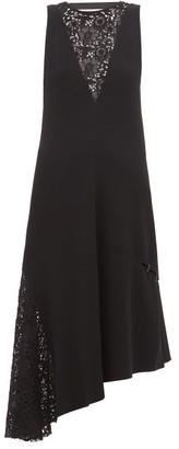 Tibi Guipure-lace Crepe Dress - Womens - Black