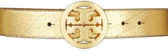 Tory Burch Classic Tory Logo Belt