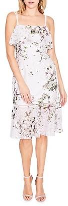 Rachel Roy Tiered Printed Lace Midi Dress