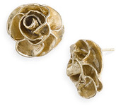 'Mayra' Rose Stud Earrings Gold