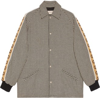 Gucci houndstooth GG jacket