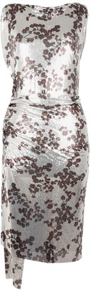 Paco Rabanne Floral Midi Chainmail Dress