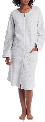 Eileen West Diamond Quilt Long Zip Robe