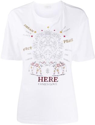 Sandro Paris slogan graphic print T-shirt