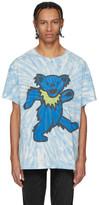 Amiri Blue Tie-Dye Grateful Dead Bear T-Shirt