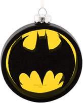 Hallmark DC Comics Batman Bat-Signal Blown Glass Christmas Ornament