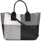 Truss Nyc contrast check top-handle tote