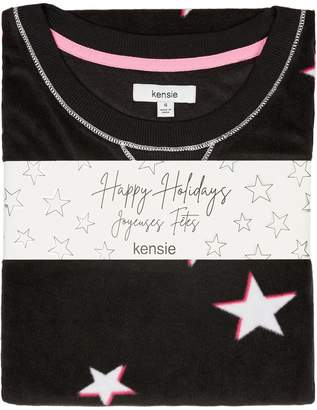 Kensie Hibernation Mode 2-Piece Printed Pyjama Set