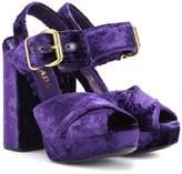 Prada Velvet plateau sandals