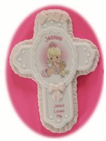 """Precious Moments Jesus Loves Me Personalized """"Jessica"""" Porcelain Wall Cross"""