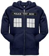 Doctor Who Large TARDIS Zip Hoodie